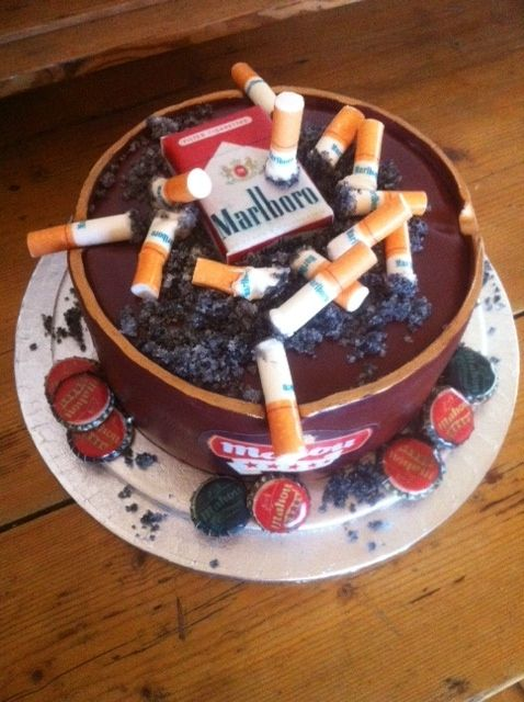Cigarette Ashtray Cake For Chain Smoker Www