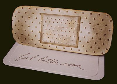 Unusual get well card. I have dot embossing folders I could do this