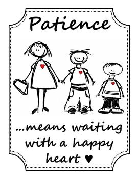 """Patience means..."""" Poster 