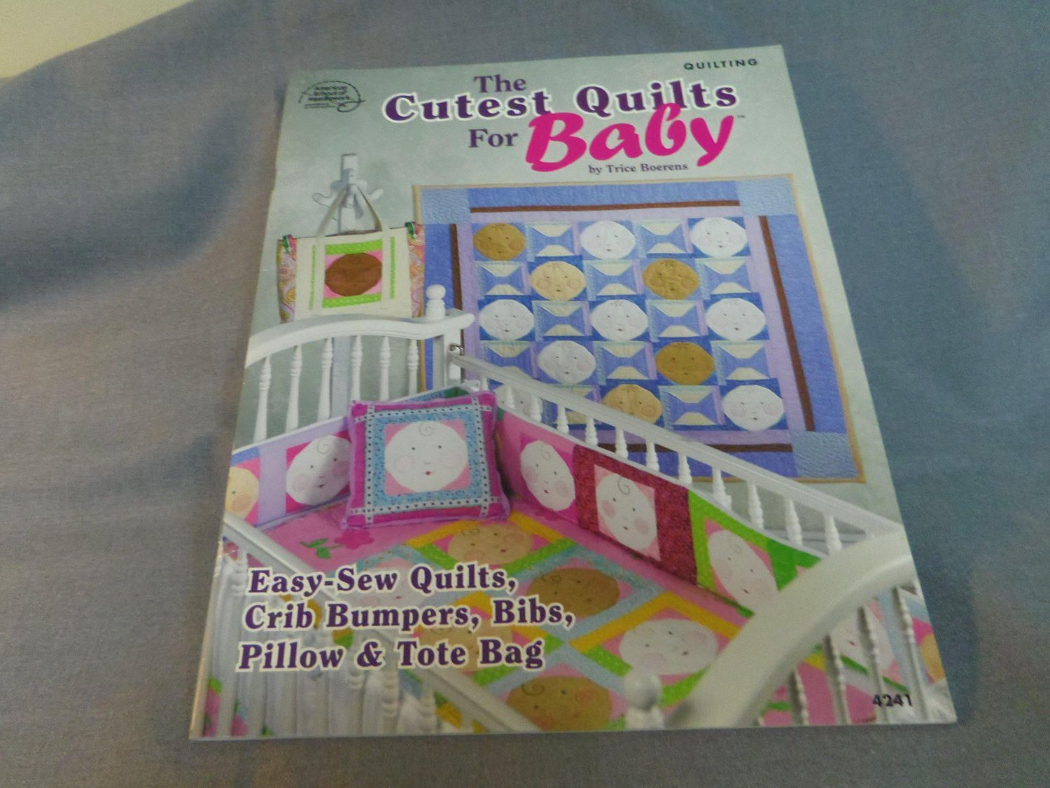 Cutest Quilts for Baby Quilting Patterns, Trice Boerens, Quilts, Crib Bumpers, Bibs, Pillow, Tote Bag, 2007 #bibsforbaby