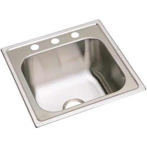Elkay Dayton 20 Single Bowl Drop In Laundry Sink Premium Highlighted Satin Dpc12020103 Sink Stainless Steel Kitchen Kitchen Fixtures