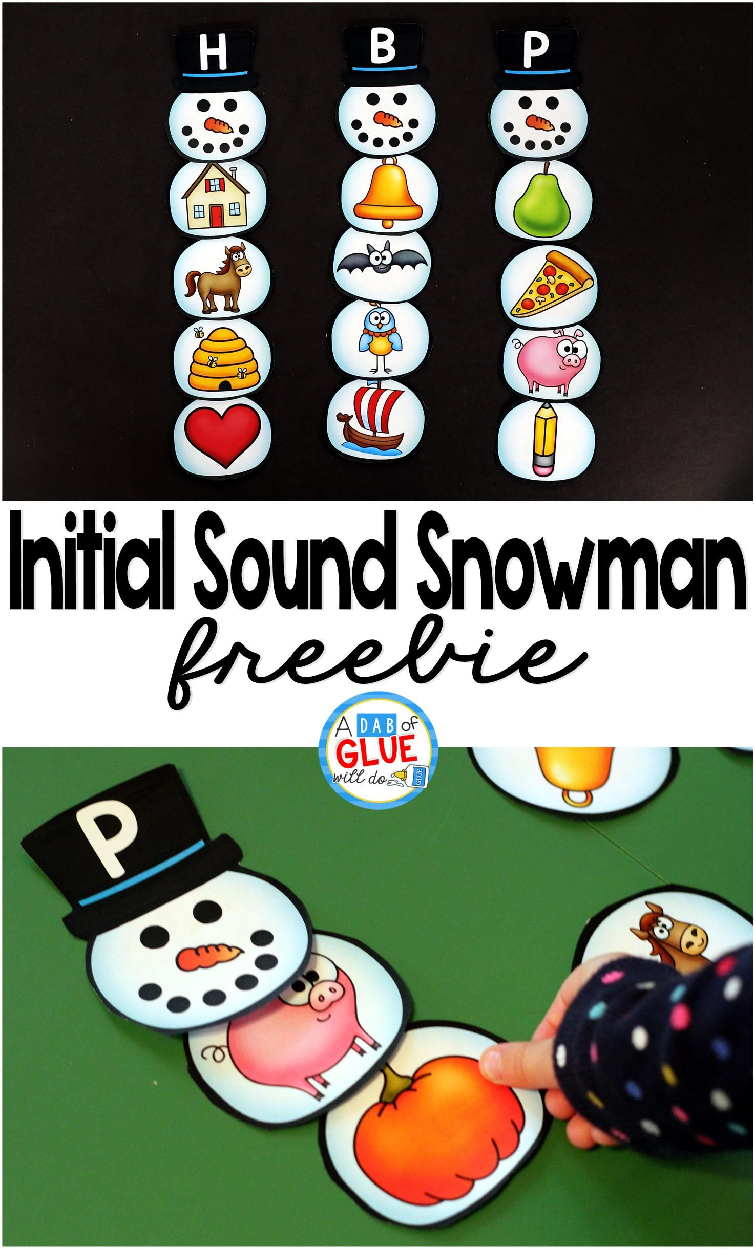 Initial Sound Snowman Printable