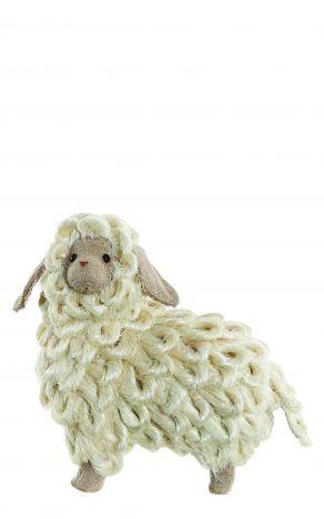 Small Raffia Hessian Lamb Sheep Home Décor Country