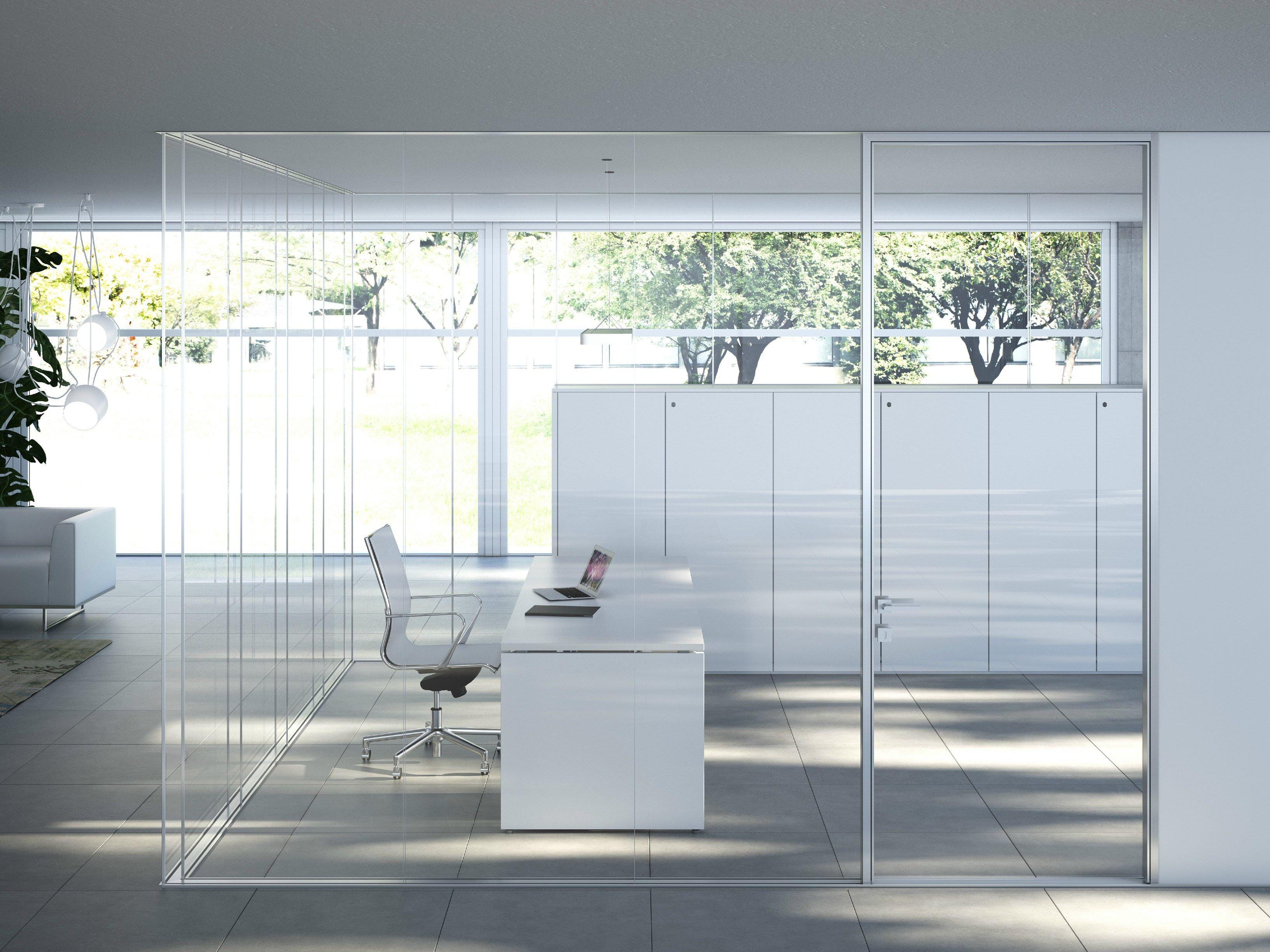 Cloison Amovible En Verre I Wallspace By Fantoni Office Bureau  # Muebles Fantoni
