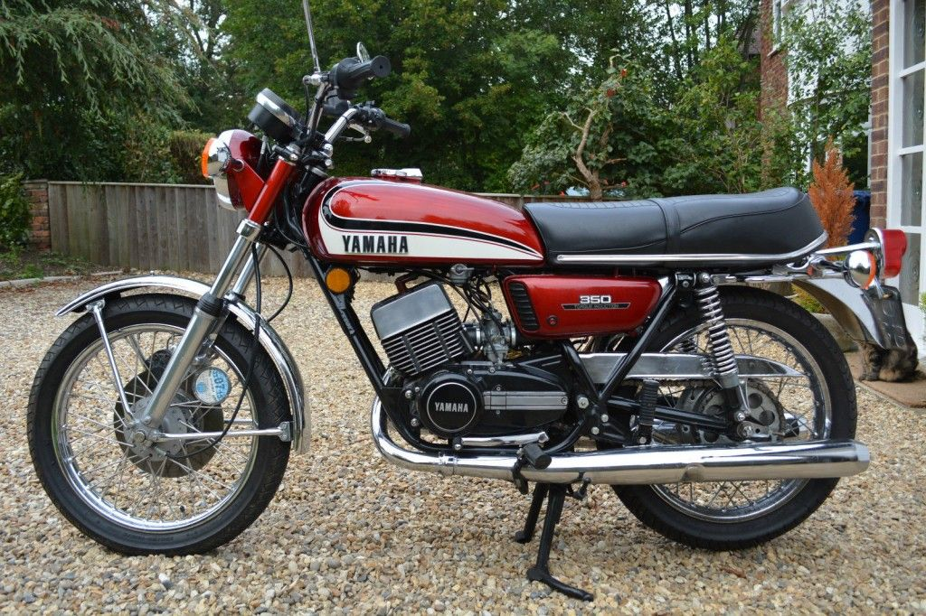 A Restored Yamaha RD350 - 1975 Motorcycle featuring