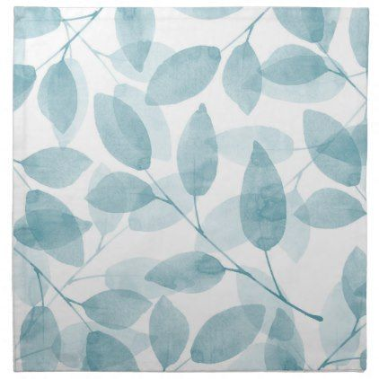 Soft Teal Watercolor Leaves Cloth Napkin - kitchen gifts diy ideas Diy Ideas Kitchen Teal on teal kitchen appliances, teal and white kitchens, teal cottage kitchens, teal country kitchen, teal painted kitchens, teal colored kitchens, teal kitchen counter, teal color, teal tables, teal kitchen island, teal kitchen themes, teal countertops, teal tiles, teal blue kitchen, teal and black kitchen, teal kitchen accessories, teal kitchen cabinets,