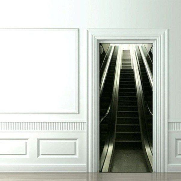 Фото наклейки на дверь