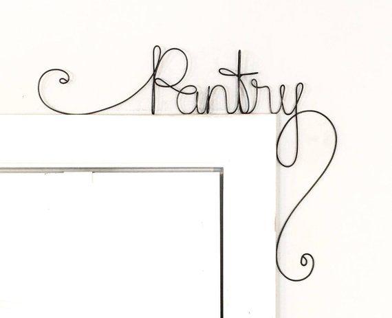 Unique Pantry Door Sign, Unique Over the Door Pantry Wall Word ...