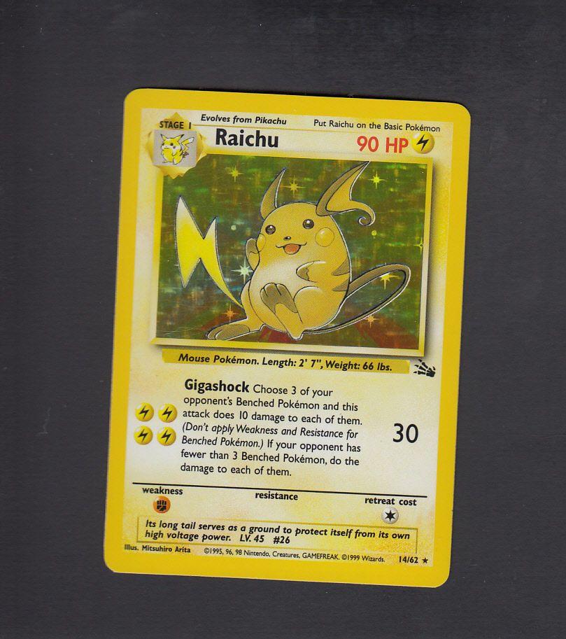 Raichu Holo Fossil Japanese EX-NM Pokemon Card