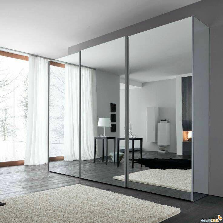 Ropero espejo closet de madera modernos armario puertas - Armario ropero puertas correderas ...