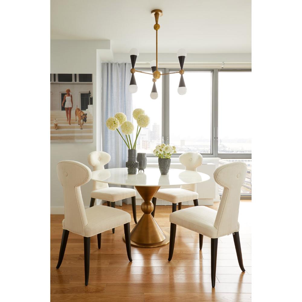 Caracas Six Light Chandelier In 2020 Modern Dining Room Dining Room Design Interior Design