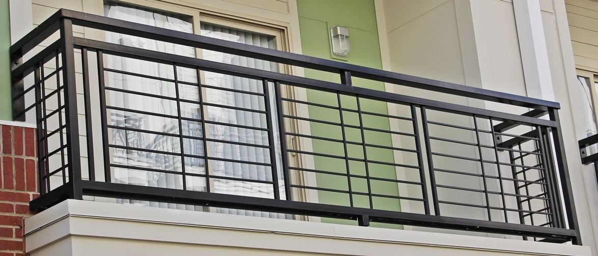 a nice and simplistic iron balcony  each balcony railing is made with nothing less than high
