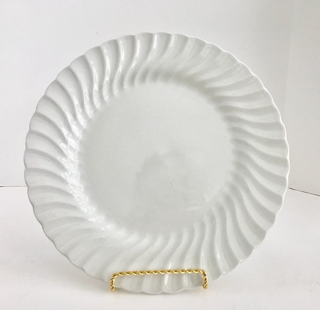 Johnson Brothers Regency White Swirl 10 1/2  Dinner Plate & Johnson Brothers Regency White Swirl 10 1/2