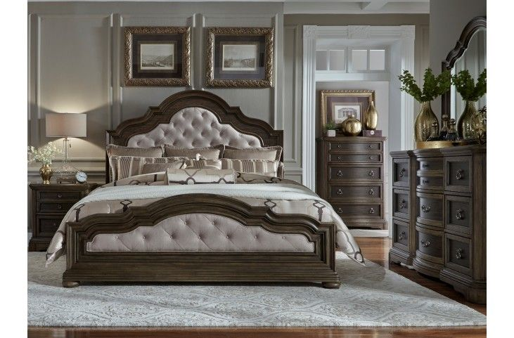Valley Springs Brown And Beige Upholstered Bedroom Set From Liberty | Coleman  Furniture