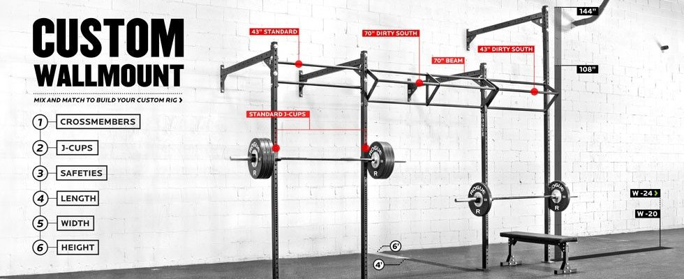 Rogue custom wall mount rig gym pinterest