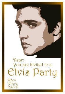 An Elvis Theme Is Lots Of Fun Elvis Levis Pinterest Party