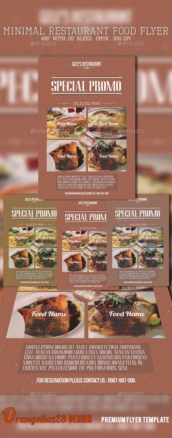 Minimal Restaurant Food Flyer Minimal Restaurant Food