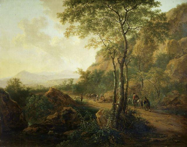BOTH JAN (ОКОЛО 1615 - ОКОЛО 1652) Italianate Landscape with Muleteers