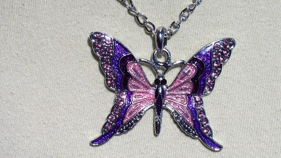 Austrian Crystal Butterfly Necklace The Symbol Of A New Beginning