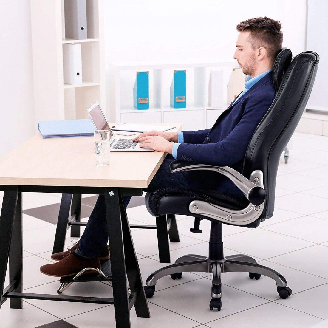 Executive high back pu leather office chair computer task desk chair