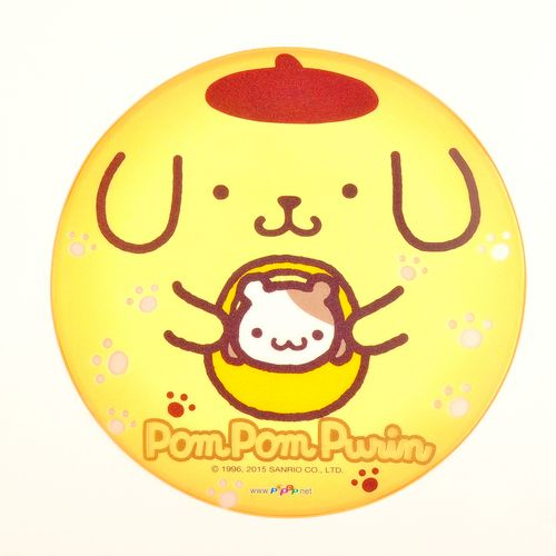 "Pom Pom Purin Transparent Mouse Pad Mouse Mat Desk Mat Dia.8.6"" Yellow Sanrio.$10.00"