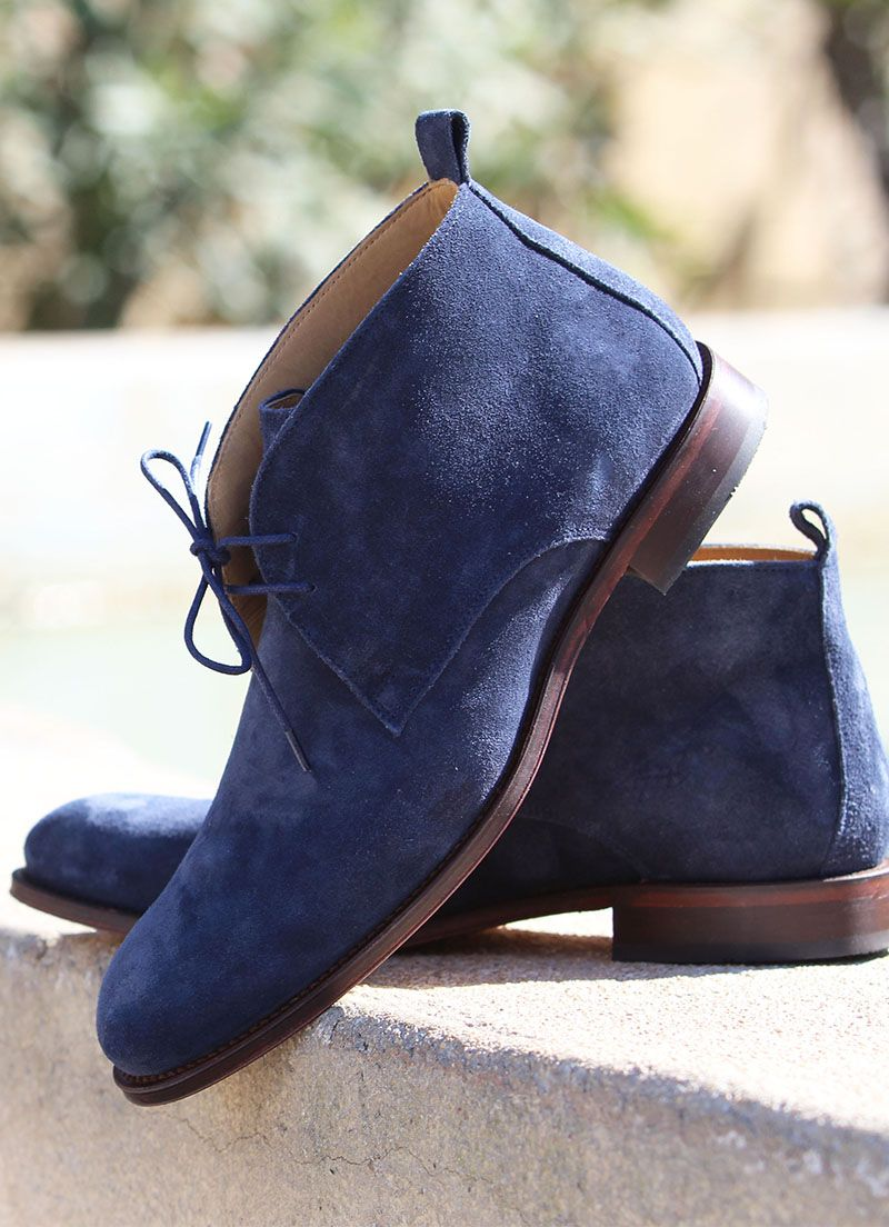boots 2019Daim Desert cuir bleu cuir en daim bleuBottes O0yN8nwvm