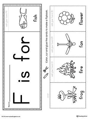 Letter F Beginning Sound Flipbook Printable  Printable Worksheets