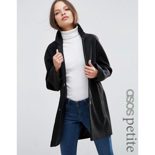 ASOS PETITE Boyfriend Coat in Cocoon Fit (1762265 BYR) ❤ liked on ...