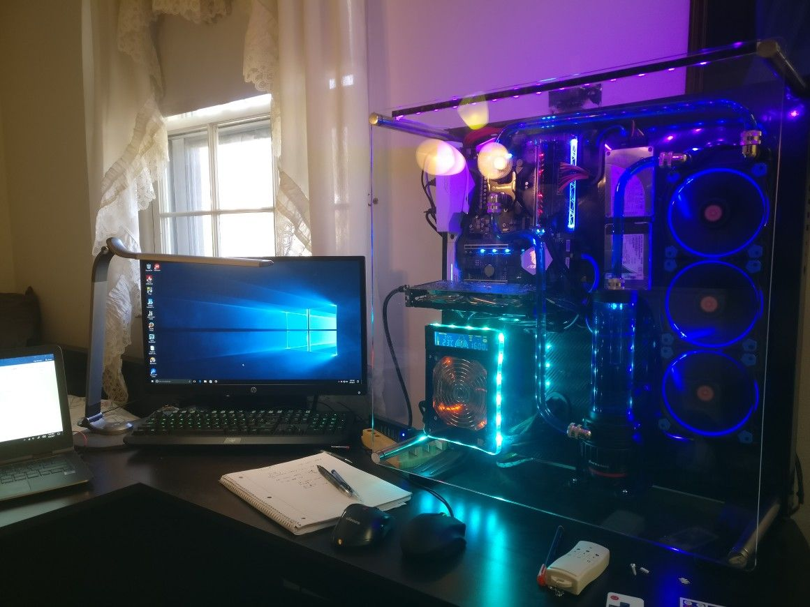 Desktop Water Cooling System Custom Pc Water Cooling Cool Stuff