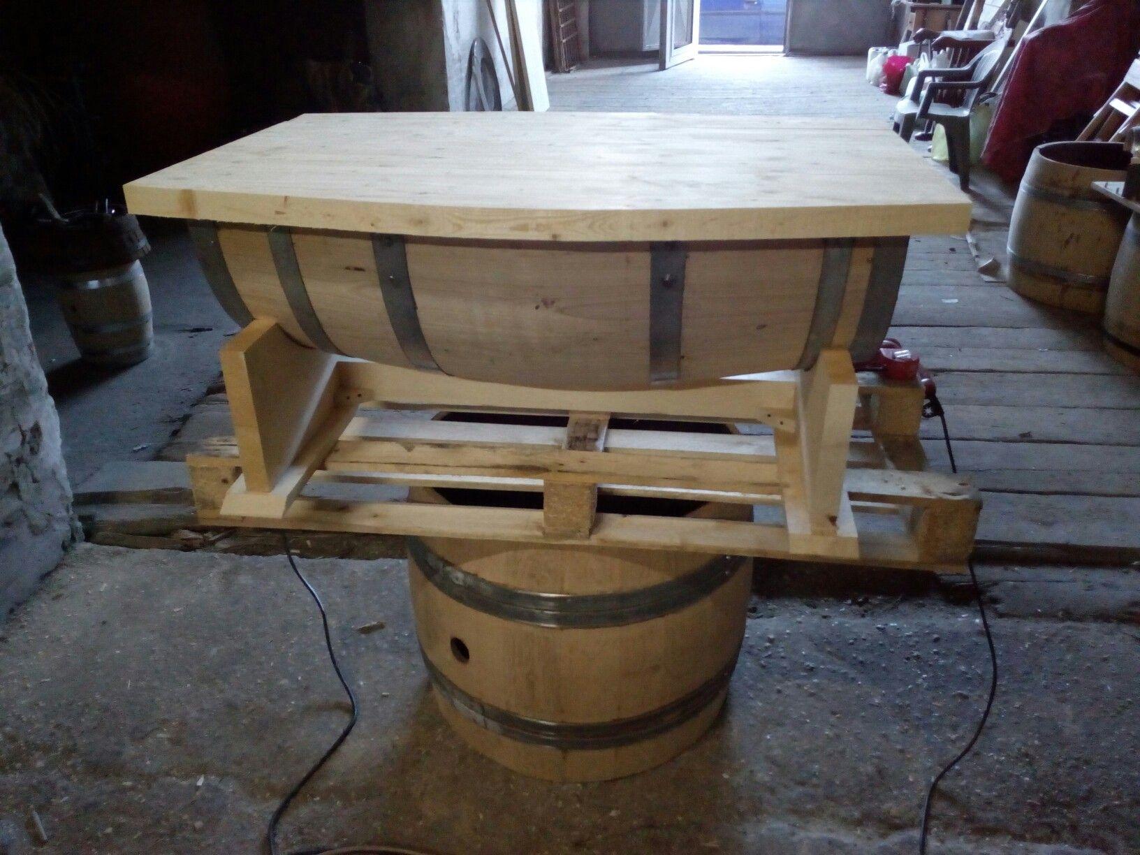 Botte Tavolo ~ Tavolo botte apribile botti in legno pinterest