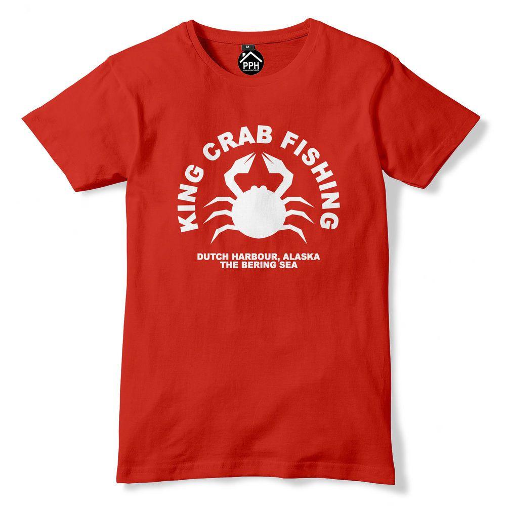 370d6d82 King Crab Fishing Tshirt Funny T Shirt Fish Fisherman Fly Angler Alaska PT9