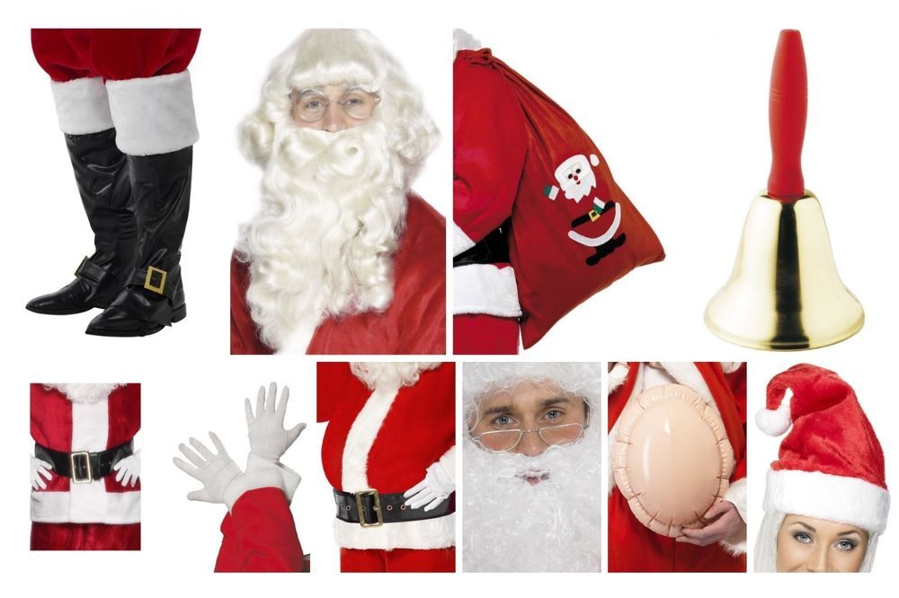 Santa Claus Father Christmas Hat Fancy Dress Costume Adult Mens Ladies Accessory