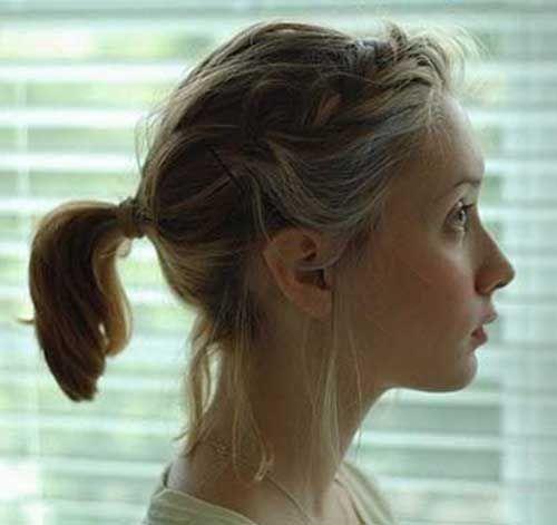 cute ponytails short hair