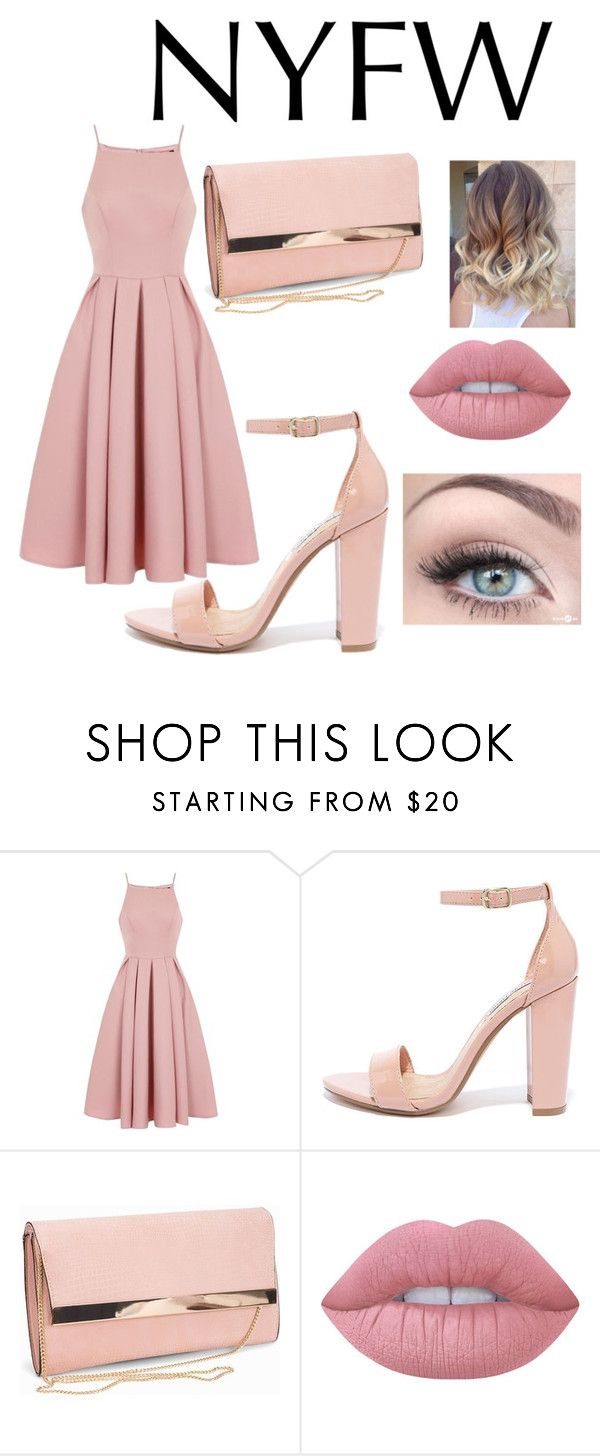 """Untitled #31"" by kate-elizabeth-egan ❤ liked on Polyvore featuring Chi Chi, Steve Madden, New Look and Lime Crime"