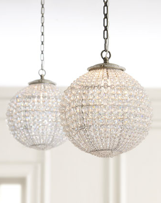Horchow crystal ball pendant antique inspired pendant offers updated restoration style lighting for the traditional or transitional setting