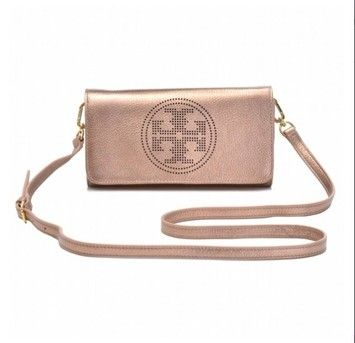 582d95e9 Tory Burch Nwt Metallic Perforated Logo Clutch Royal Salmon Rose Gold Cross  Body Bag $195. Tory Burch Crossbody Bags - Up to 70% off at Tradesy ...