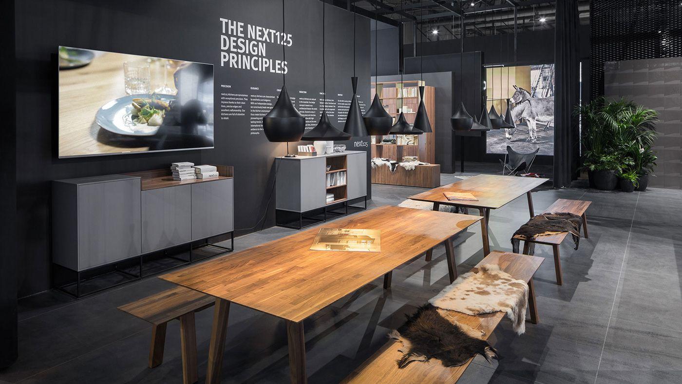Küchendesign 2018 schüller  eurocucina  milan  on behance  exhibition  展