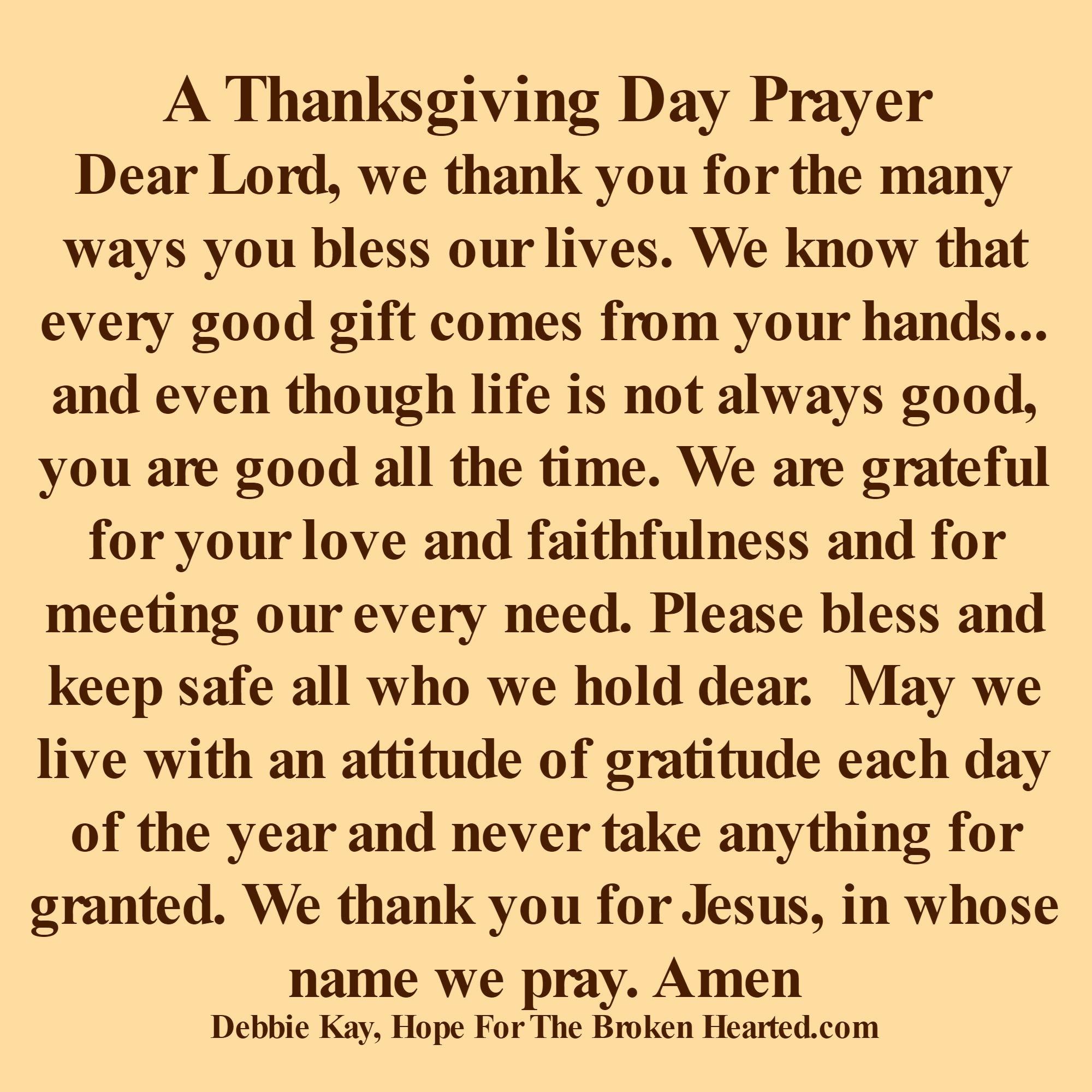 Todays Prayer Quotes Thanksgiving Day Prayer  Prayers  Pinterest  Thanksgiving
