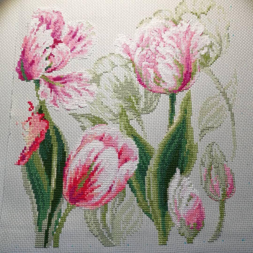 Тюльпаны риолис вышивка ткань яхта купить