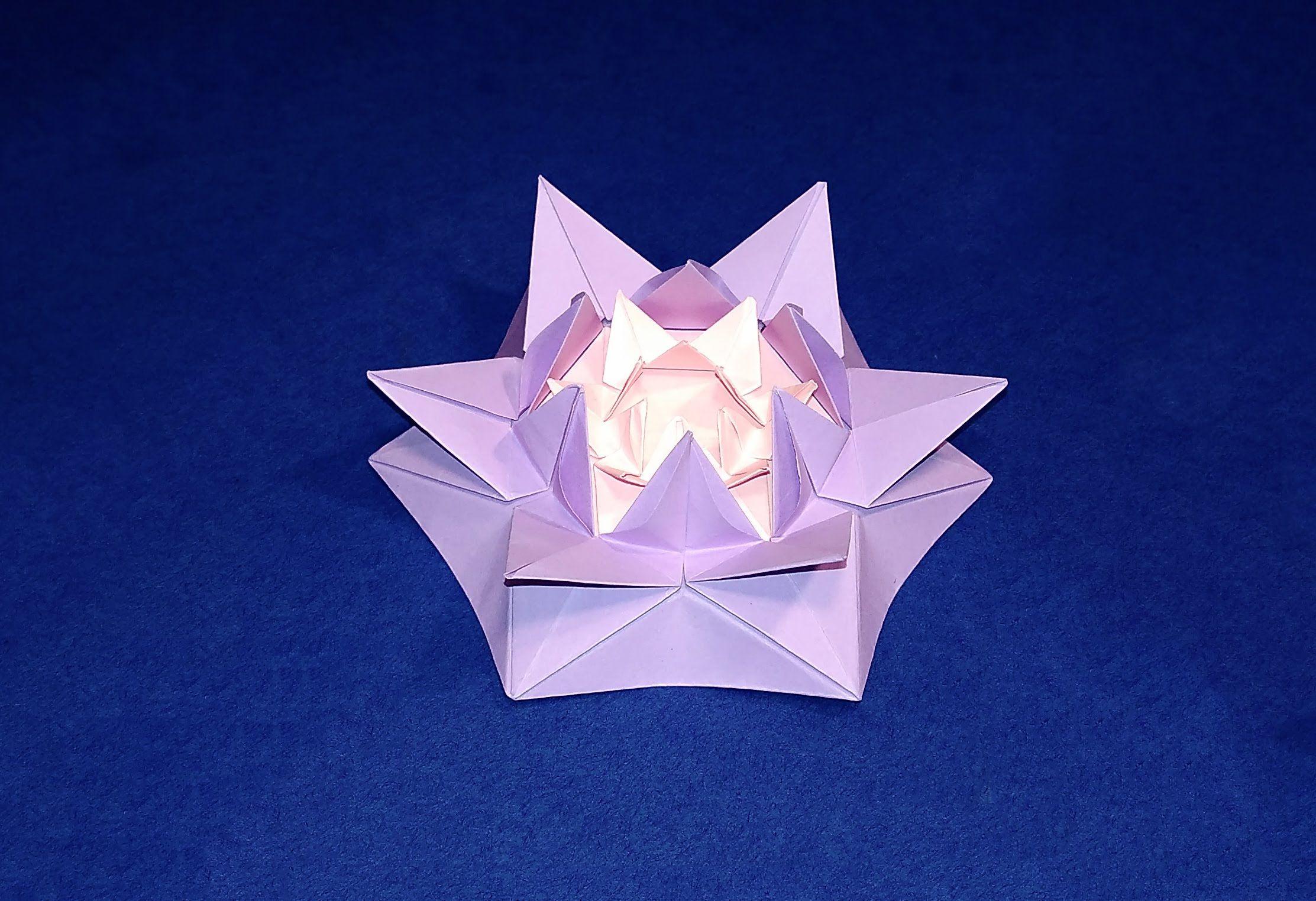 Origami amazing flower for Christmas decoration. Origami ... - photo#31