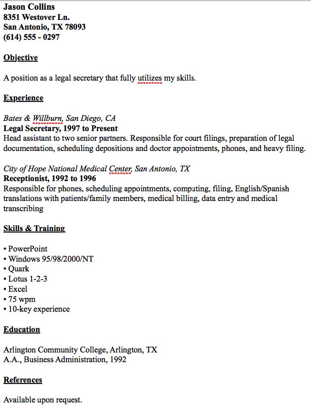 Example Of Legal Secretary Resume   Http://resumesdesign.com/example Of  Legal Secretary Resume/