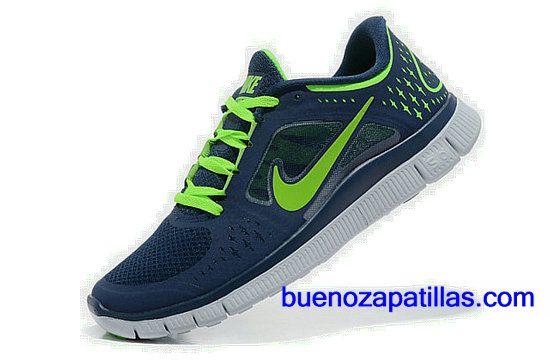 outlet store c9b7f decad Hombre Nike Free Run 3 Zapatillas (color  empeine y en el interior - de