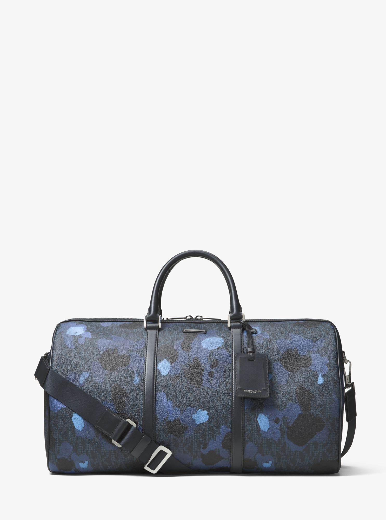 98cd83986bb2 MICHAEL KORS Jet Set Painterly Camo Large Duffel Bag.  michaelkors  bags   canvas  lining  travel bags  polyester  weekend  cotton
