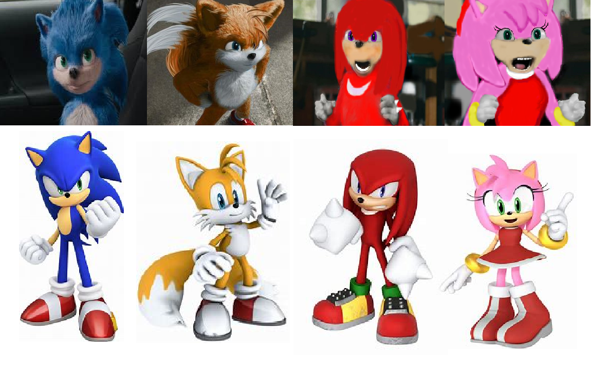 Sonic Characters The Live Aciton Movie Filmes