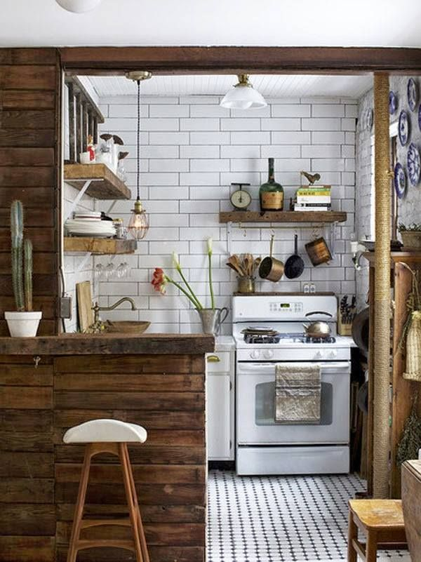 Resultado de imagem para cozinha retro rustica cozinha - Cocinas pequenas rusticas ...