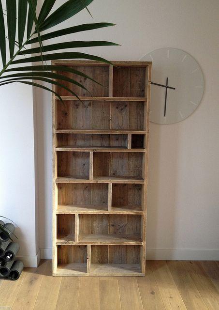 steigerhouten boekenkast bouwtekening - Google zoeken - Wooddie ...