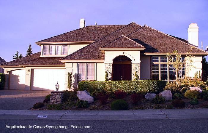 Residencia americana fachadas for Casas americanas fachadas
