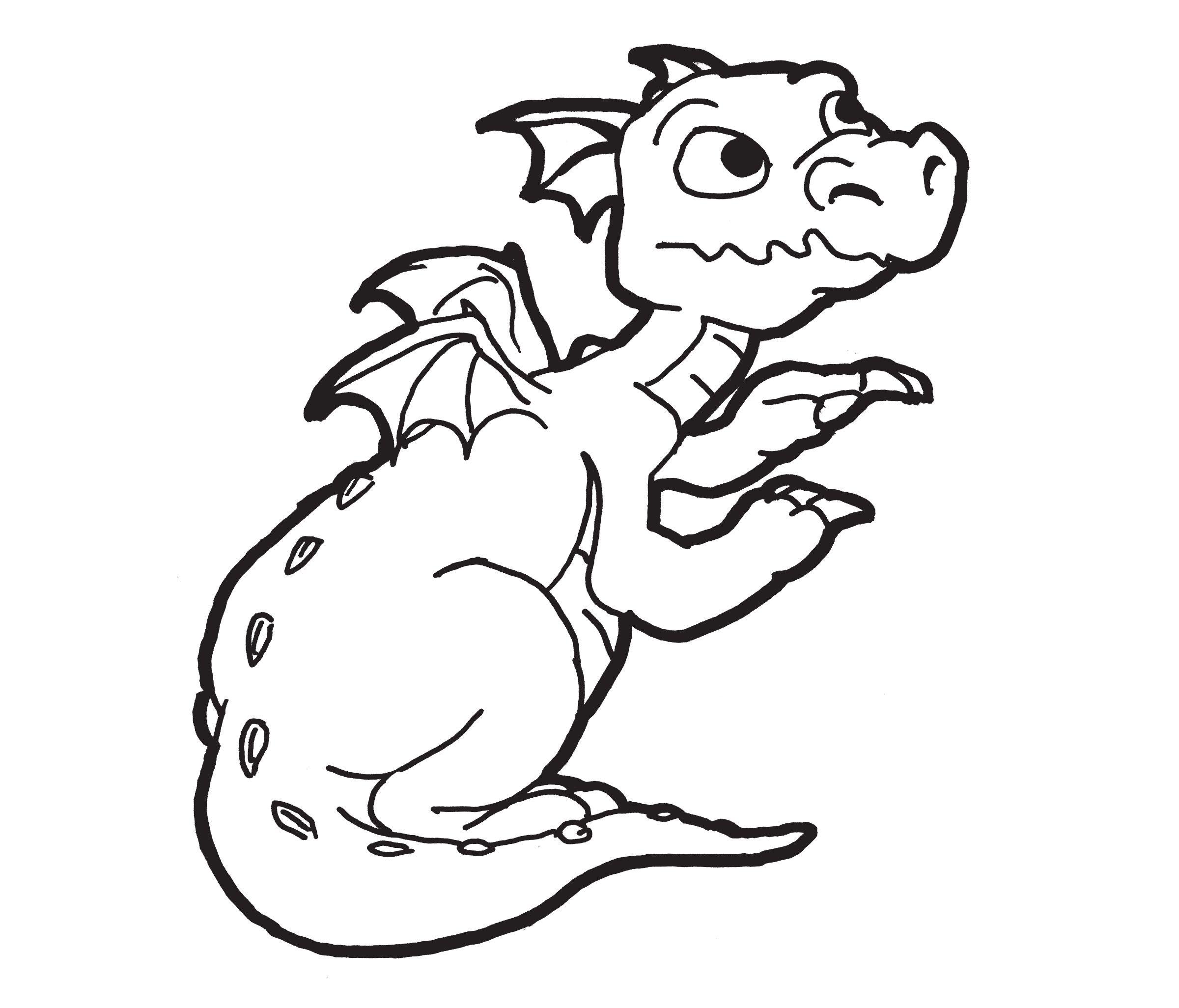 Dragon Coloring Page Preschool