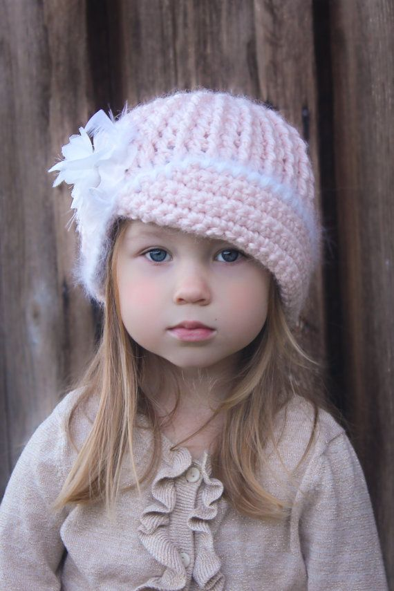 Crochet Hat Pattern: \'Vintage Twist\', Fabric Flower, Winter Fashion ...