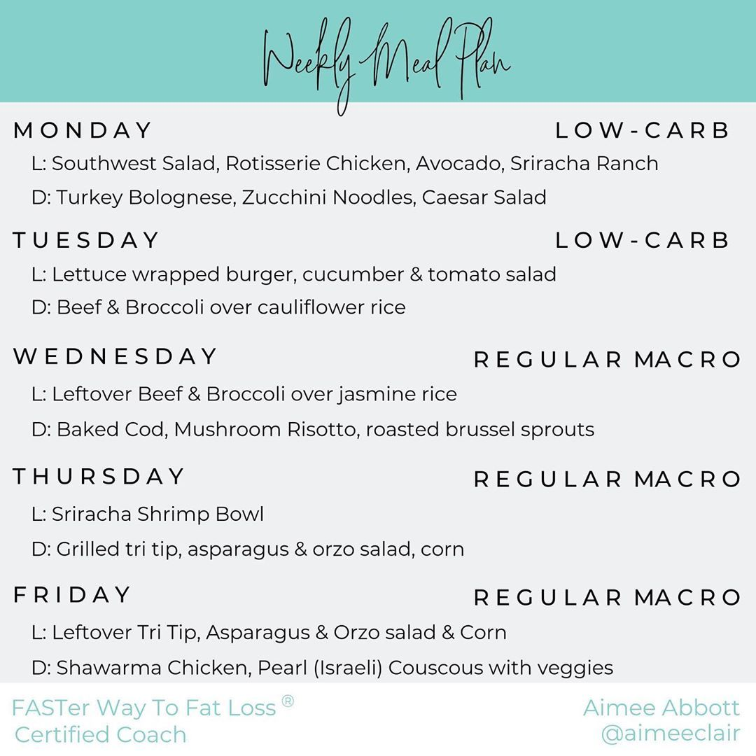 "Aimee Abbott on Instagram: ""Excited to share another installment of I ❤️ #traderjoes meal plan! Once again I'm going for quick and easy meals this week. ⁣ ⁣ Can't wait…"" #ketomealplan"